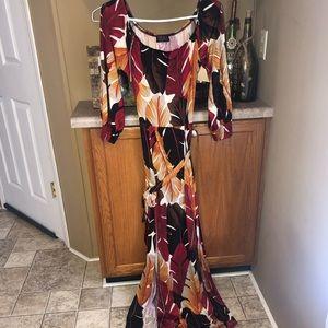 Off The Shoulder Maxi Dress with Slit